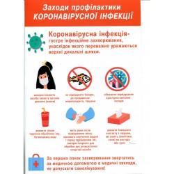Плакат COVID - 19 ( коронавірус ) №3