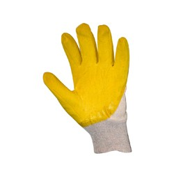 РУКАВИЧКИ Х-Б, покриті жовтим латексом к.151 з антіскольз. покр.