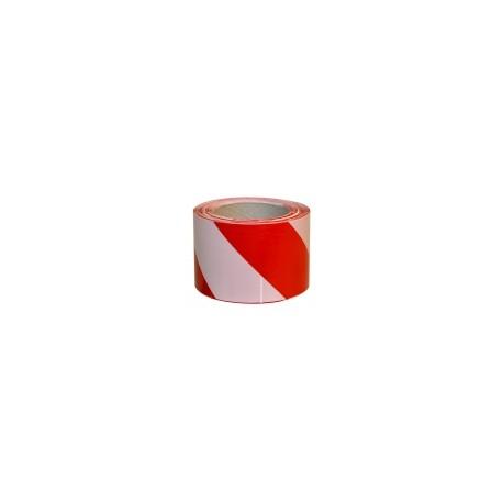 СТРІЧКА сигнальна 100м (червоно-біла)