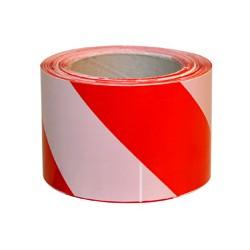 СТРІЧКА сигнальна 200м (червоно-біла)